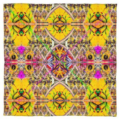 """Minerva Yellow"" by #ninibing34 feinstes Georgette Seidentuch 115 x 115 cm"