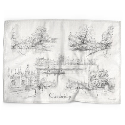 Cambridge Montage Tea Towel (cotton or microfibre)