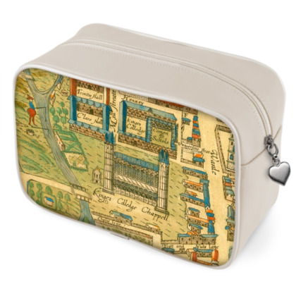 King's College chapel Wash Bag (leather trim)