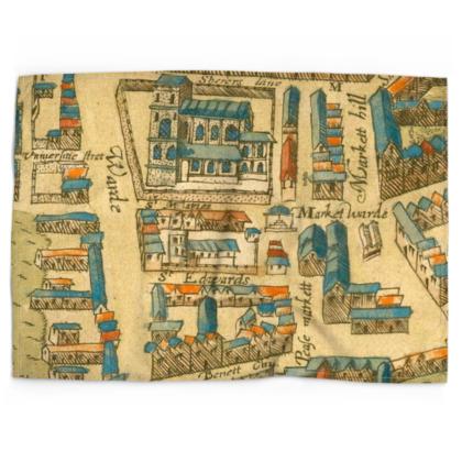 St Edwards and the market Cotton linen-look tea towel