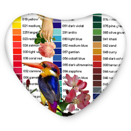 Kingfisher and Colour Chart Sweet Heart Tin