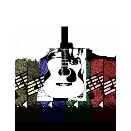 Guitar Sweatshirt - Sizes XS - 7XL.  Copyright ©  2018 Joanne Shaw.