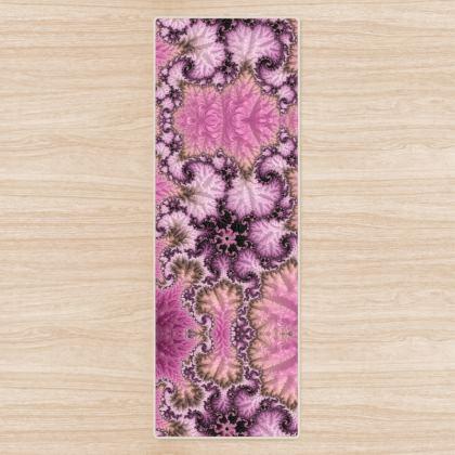 Flower fractal Yoga Mat
