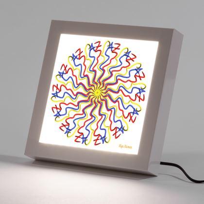 I write peace like a LED Frame