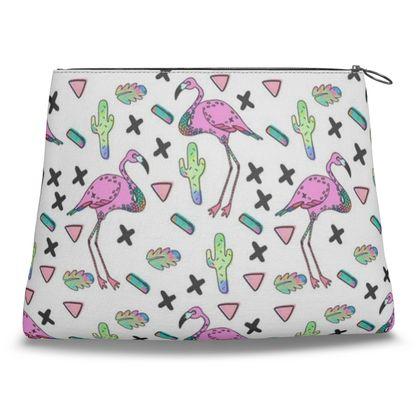 Tropical Flamingo - Clutch Bag