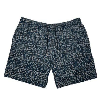 Kuru Print Mens Swimming Shorts