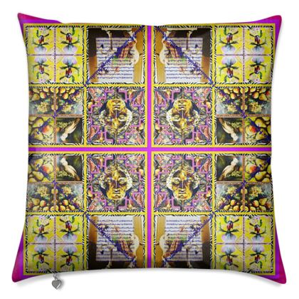 Luxuriöses Kissen 50 x 50 cm edler SAMT im ninibing34 DESIGN