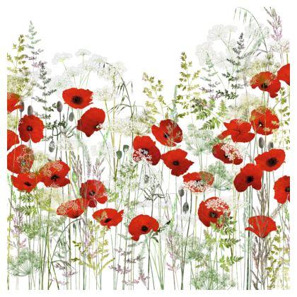 Poppy Field Luxury Cushion