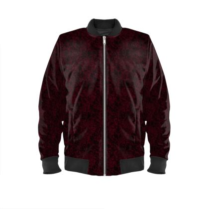 Burgundy mens Bomber Jacket