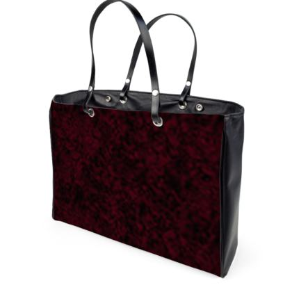 Dark red leather handbag