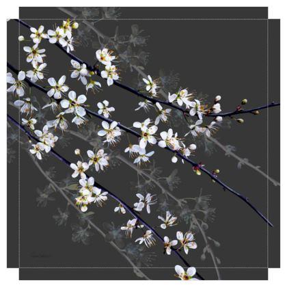 Blackthorn Blossom Canvas Print. Size 60cm x 60cm