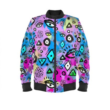 Tribal abstract pattern - Bomber Jacket