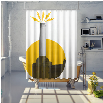 ELECTRIC POWER, Shower Curtain