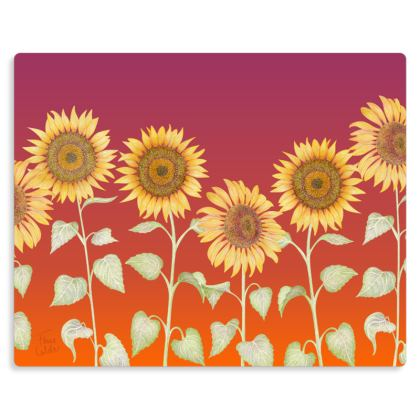 "Sunflowers at Sunset Metal Print. Size 10"" x 8"""