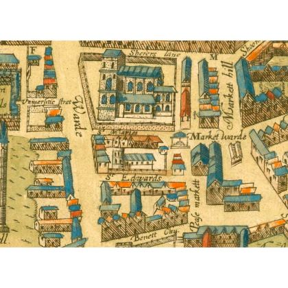 St Edwards and the market Small tray (27x20cm)