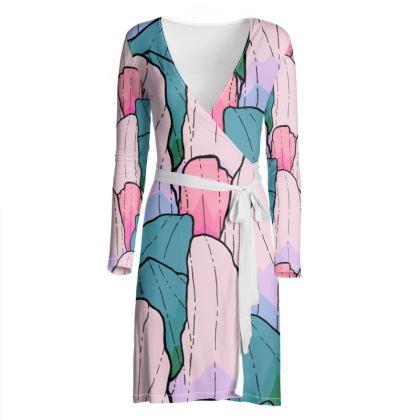 wrap dress - The soft rock patttern