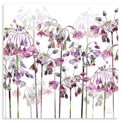 "Allium Bells Metal Print. Size 12"" x 12"""