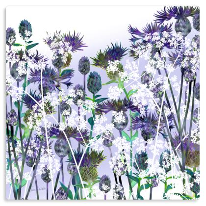"Heavenly Hedgerow Metal Print. Size 12"" x 12"""
