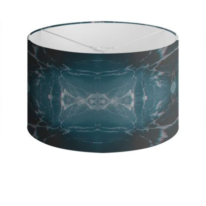 "Drum Lamp Shade ""Marbled Ice"""