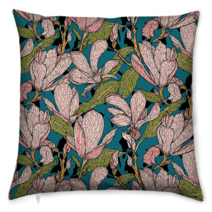 Magnificent Magnolias Cushion