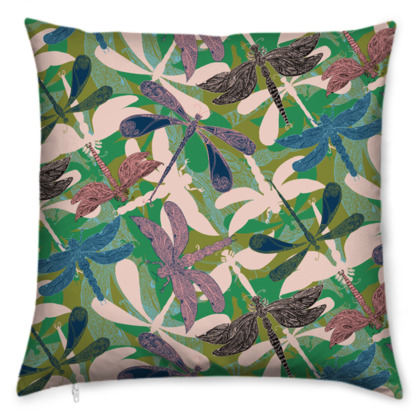 Dancing Dragonflies Cushion