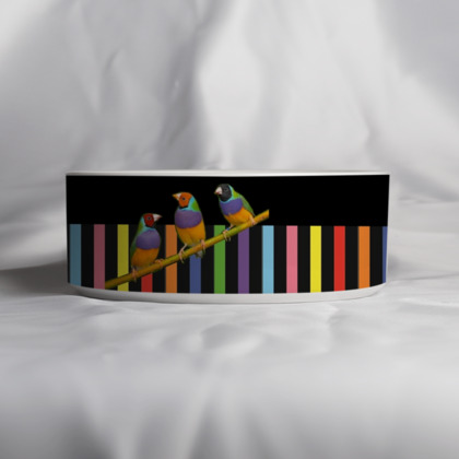 Graphic Birds Pet Bowl