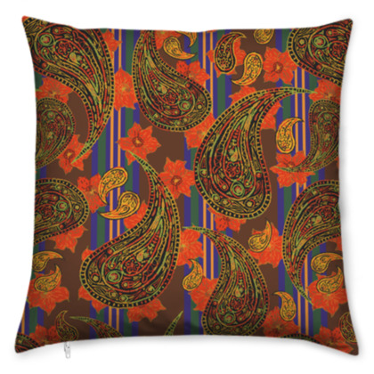 Paisley Stripe Cushion