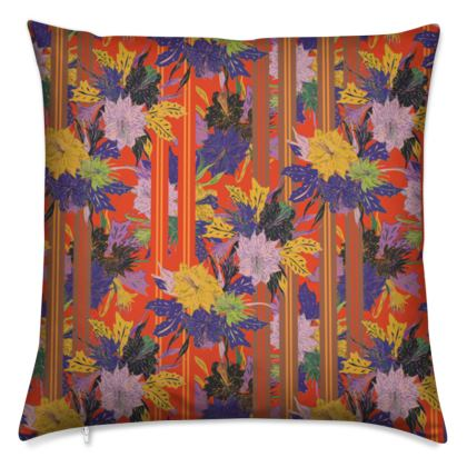 Floral Stripe Cushion