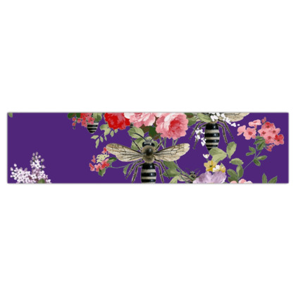 Purple Flora and Bee Dog Lead