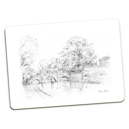 Large Placemats - pack of 2, both Clare Bridge