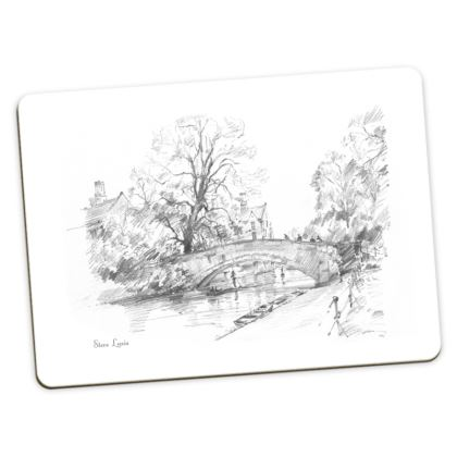 Large Placemats, 2 each of King's Bridge and Clare Bridge