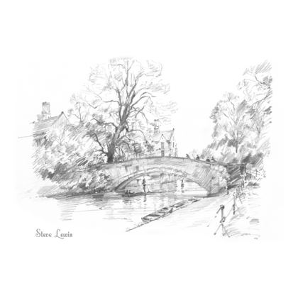 4 pack of Coasters, 2 each of King's Bridge and Clare Bridge