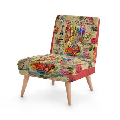 New Floral Guide Occasional Chair