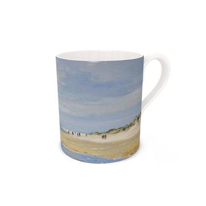 """""""Holkham Beach"""" bone china mug"""