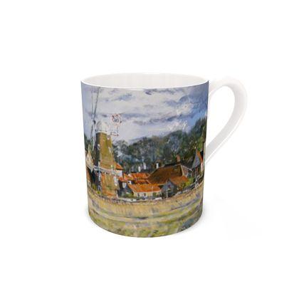 """""""Cley Mill"""" bone china mug"""