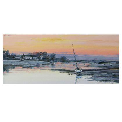 """Burnham Overy Staithe Sunset"" slimline tray"