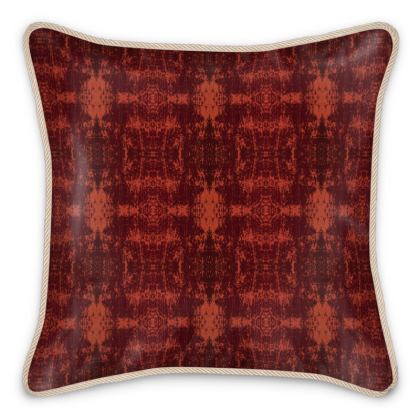 Silk Cushion Orange Pattern