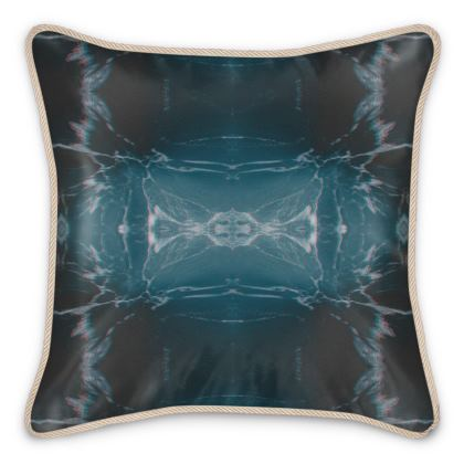 Silk Cushion Marbled Ice Pattern