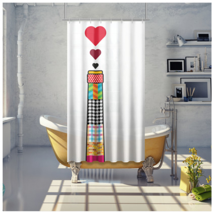 THE BREWERY OF LOVE, Shower Curtain