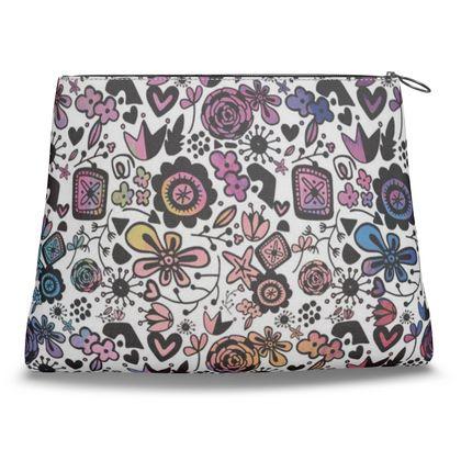Botanical Folk Flowers - Clutch Bag