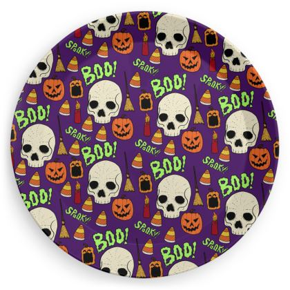 Party Plates - Halloween pattern (Colour)