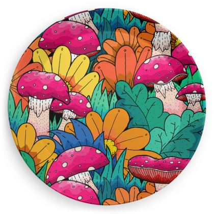 Party Plates - Autumn Mushroom pattern