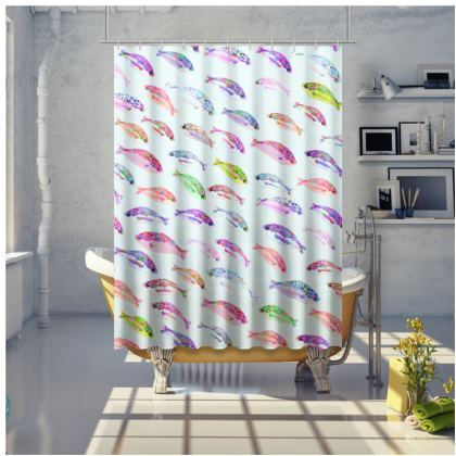 Tropical Fish Collection Shower Curtain
