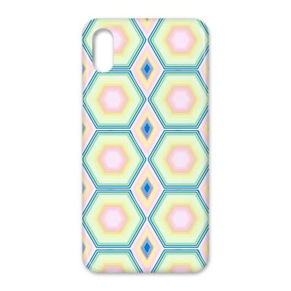 Geometrical Shapes in pastel tones iPhone X Case.