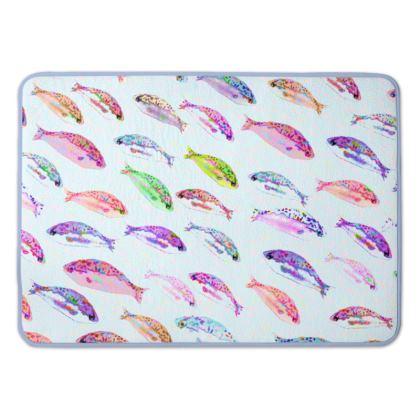 Tropical Fish Collection Bath Mat