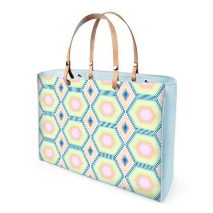 Geometrical Shapes in pastel tones Collection Handbag.