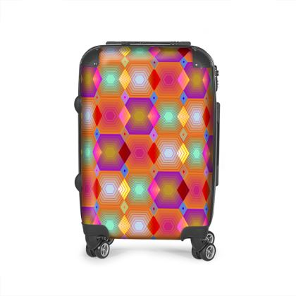 Geometrical Shapes in pastel tones Collection Suitcase