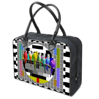 Test Card and Rainbow Budgies Weekender Bag