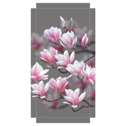 Magnolia Blossoms Canvas Print. Size 30cm x 60cm