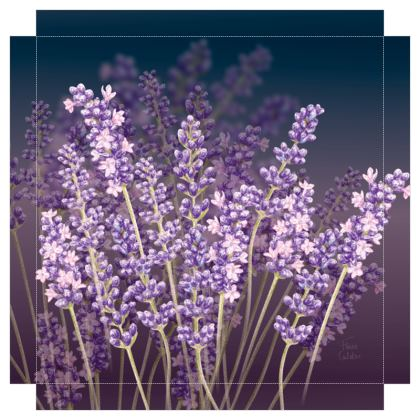Lavender Nights Canvas Print. Size 40cm x 40cm